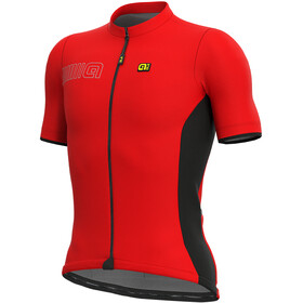 Alé Cycling Solid Color Block Fietsshirt korte mouwen Heren rood/zwart